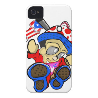 Cute Puerto Rico Character w/ Flag iPhone 4 Covers