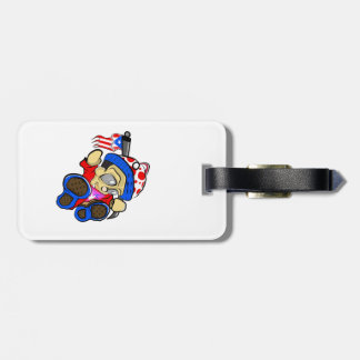 Cute Puerto Rico Character w/ Flag Luggage Tag