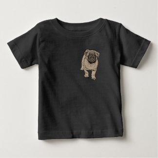 Cute Pug Baby Jersey T-Shirt -Black