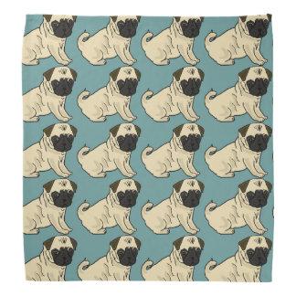 Cute Pug Dog Bandana