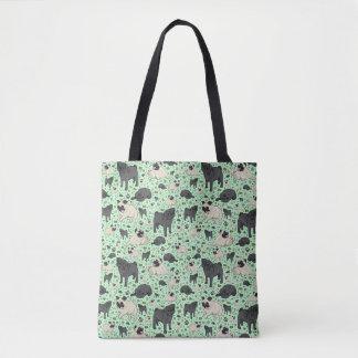 Cute Pug Dog Tote Bag
