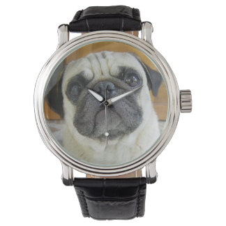 Cute Pug Face Wrist Watch