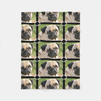 Cute Pug Fleece Blanket