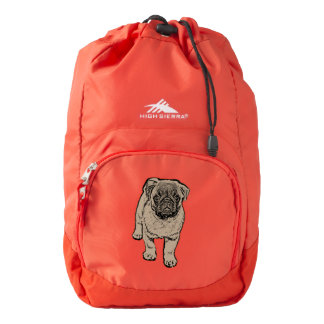 Cute Pug High Sierra Backpack - Red