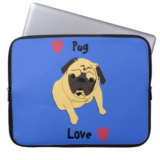 Cute Pug Love Dog Computer Case Laptop Sleeve