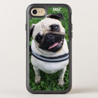 Cute Pug Puppy Dog Monogram OtterBox Symmetry iPhone 8/7 Case