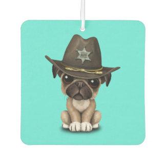 Cute Pug Puppy Dog Sheriff Car Air Freshener