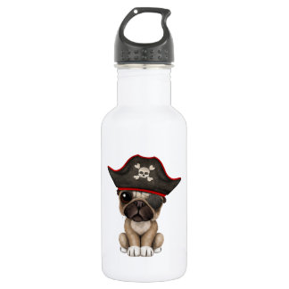 Cute Pug Puppy Pirate 532 Ml Water Bottle