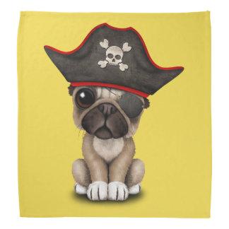 Cute Pug Puppy Pirate Bandana