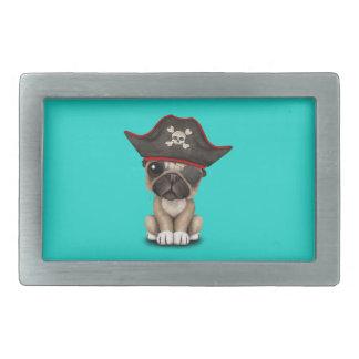 Cute Pug Puppy Pirate Belt Buckle