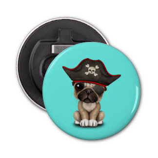Cute Pug Puppy Pirate Bottle Opener