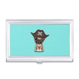 Cute Pug Puppy Pirate Business Card Holder