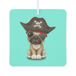 Cute Pug Puppy Pirate Car Air Freshener