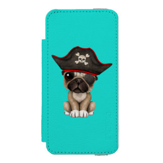 Cute Pug Puppy Pirate Incipio Watson™ iPhone 5 Wallet Case