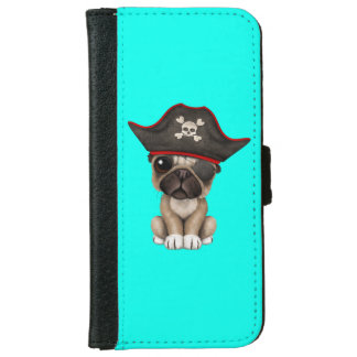 Cute Pug Puppy Pirate iPhone 6 Wallet Case