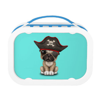 Cute Pug Puppy Pirate Lunch Box