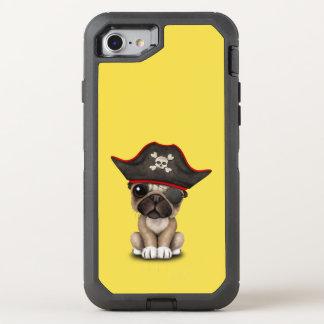Cute Pug Puppy Pirate OtterBox Defender iPhone 8/7 Case