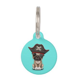 Cute Pug Puppy Pirate Pet Name Tag
