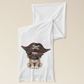 Cute Pug Puppy Pirate Scarf