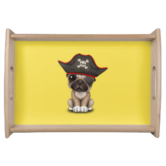 Cute Pug Puppy Pirate Serving Tray