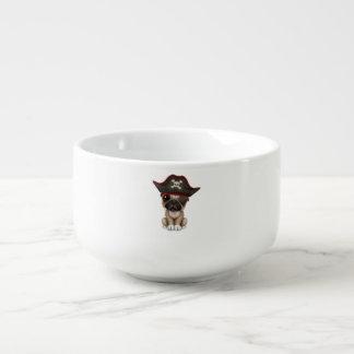 Cute Pug Puppy Pirate Soup Mug
