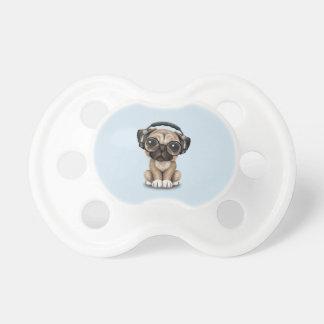 Cute Pug Puppy Wearing Headphones Dummy