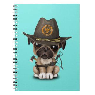 Cute Pug Puppy Zombie Hunter Notebook