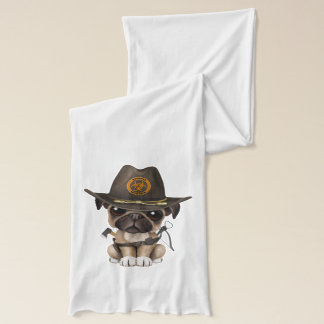 Cute Pug Puppy Zombie Hunter Scarf