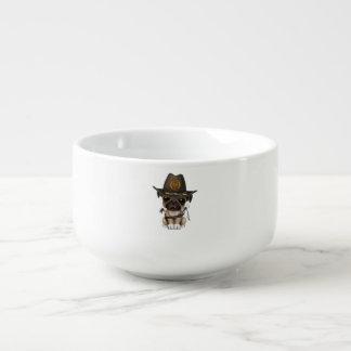 Cute Pug Puppy Zombie Hunter Soup Mug