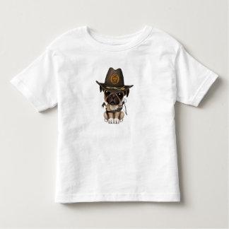 Cute Pug Puppy Zombie Hunter Toddler T-Shirt