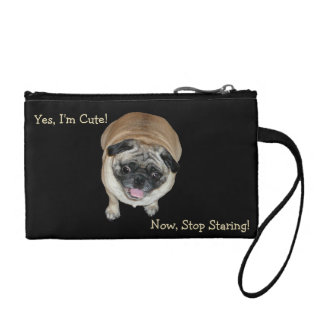 Cute Pug Stop Staring Coin Clutch Bag Change Purses