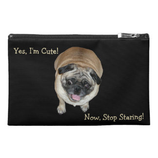 Cute Pug Stop Staring Toiletry Bag Travel Accessory Bags