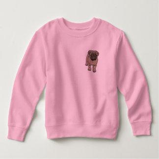 Cute Pug Toddler Fleece Sweatshirt -Pink