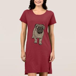 Cute Pug Women's Alternative Dress -Red