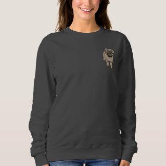 Cute Pug Women's Basic Pocket Sweatshirt -DGray