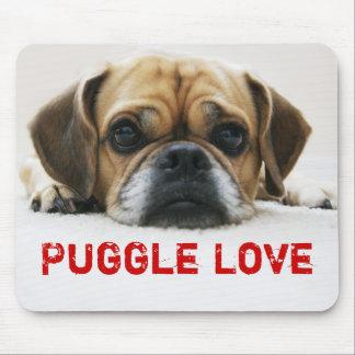 Cute Puggle Love Mousepad