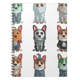 Cute Pugs Halloween T-Shirt Funny Halloween Notebook