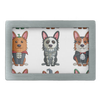 Cute Pugs Halloween T-Shirt Funny Halloween Rectangular Belt Buckle