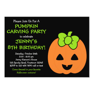 Cute Pumpkin Halloween Invitation