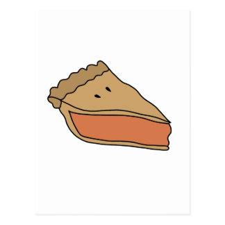 CUTE PUMPKIN PIE POSTCARD
