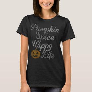 Cute Pumpkin Spice Happy Life Halloween Costume T-Shirt