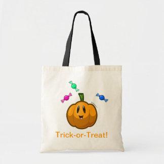 Cute pumpkin trick-or-treat bag
