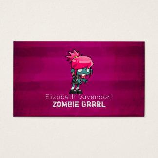 Cute Punk Rock Zombie Grrrl Fun Novelty Business Card