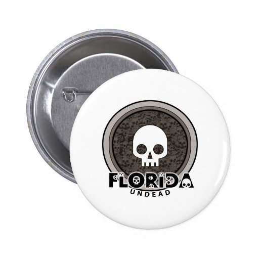 Cute Punk Skull Florida Button