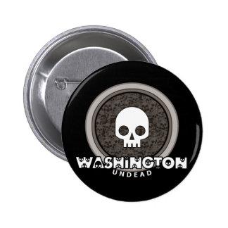 Cute Punk Skull Washington Button Dark