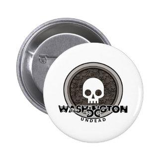 Cute Punk Skull Washington DC Button