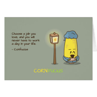 Cute & Punny Confucius Motivational Quote Card