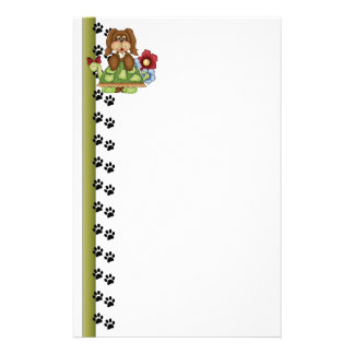 Cute Pup Turtle Stationery