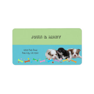 Cute Puppies (dogs) Label