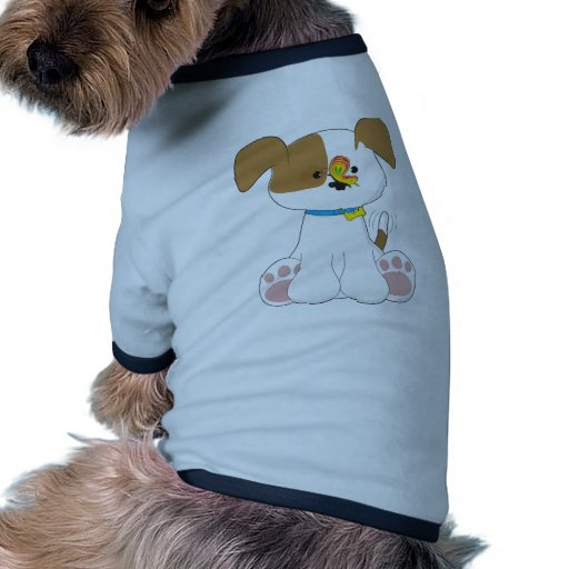 Cute Puppy and Butterfly Pet T-shirt